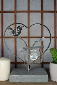 Heart-Shaped-Glass-Planter-Holder-with-Grey-Bird-Hydroponic-Modern-Vase-for-Ho