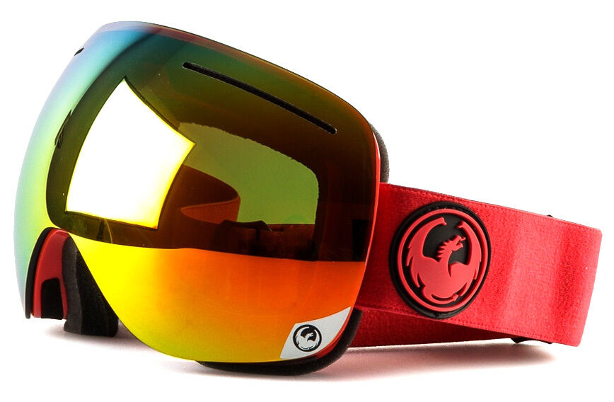 NEW 2016 Dragon X1 Goggles-Bitter-Red  Ion+Yellow Red Ion-SLIGHTLY TORN BOX  the most fashionable