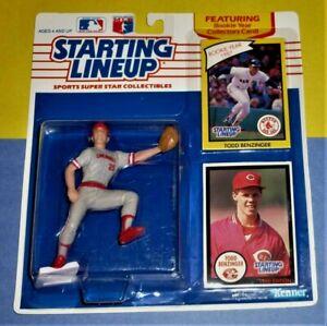 1990 TODD BENZINGER Cincinnati Reds Rookie NM+  sole Starting Lineup & 1988 card