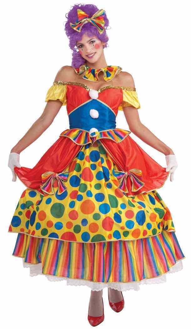 Giggles The Clown Women Adult Costume Polka Dotted Fancy Dress Forum Novelties