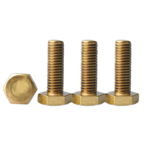 M8 M10 M12 Brass Hex Screw Copper Alloy Hex Bolts Various Sizes Fastener Service