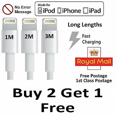 Premium Long Fast Charger Strong Cable For Apple iPhone 5 6 7 iPad Air USB Data