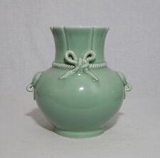 Chinese  Monochrome  Green  Glaze  Porcelain  Vase  With  Mark     M1109