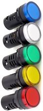 Yuco 22mm Compact Led Panel Mount Indicator Light Acdc Choose Color Voltage