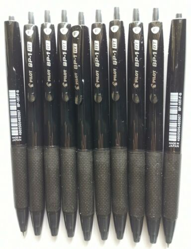 Made In Japan Brand NEW Pilot BP-1 RT Fine 0.7 Ball Pen 10x Black