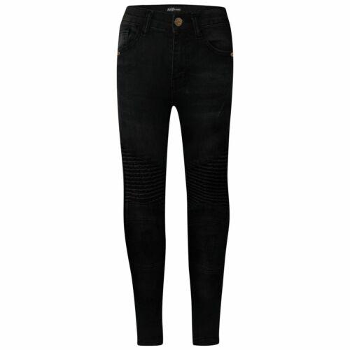 Enfants Garçons Noir Geai Jeans Extensible Designer Déchiré Skinny Pantalon