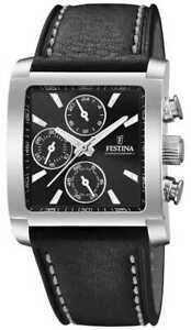 Festina | Mens Stainless Steel Chronograph | Black F20424/3 Watch - 5% OFF!