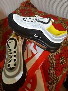 Dettagli su Nike Air Max 97 Black white yellow Num 43 pagamento solo alla consegna