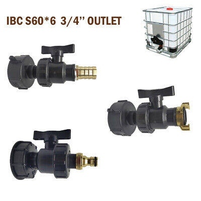 IBC Adapter Auslaufhahn für IBC Regenwasser Tank und Kaniste