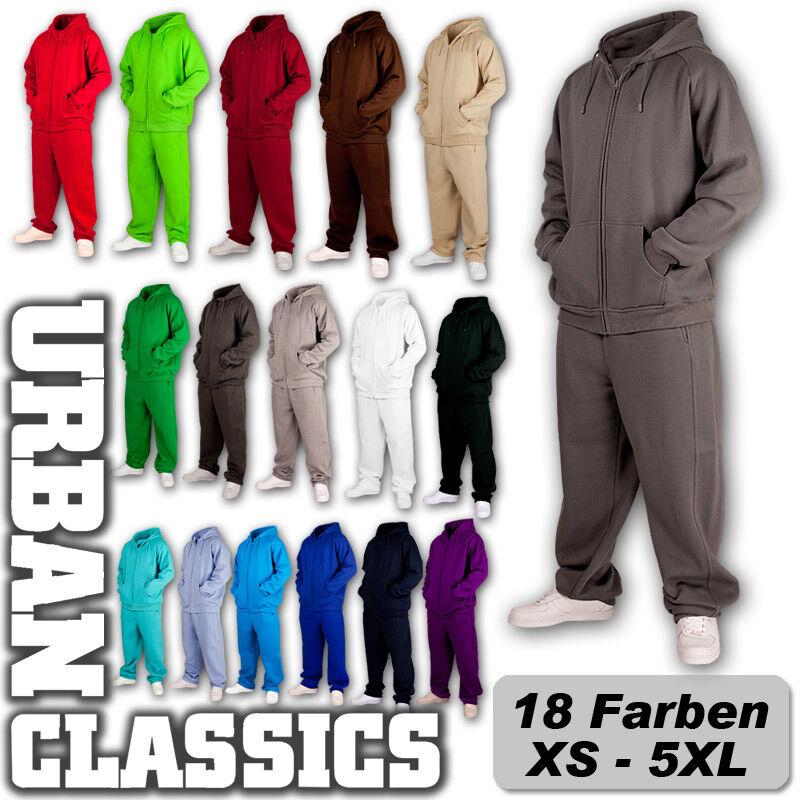 Urban Classics Blank Sweat Suit Jogging Costume Sweatsuits