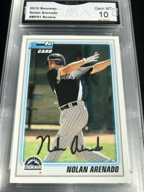 Nolan Arenado 2010 Bowman Prospect 1st Year Card (RC) Graded 10 💎 MINT