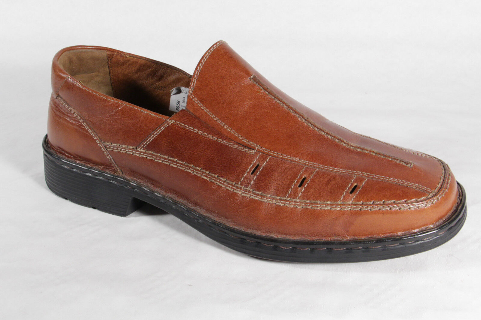 Seibel Slipper Leder Sneaker Halbschuh, braun, Leder Slipper Wechselfußbett  NEU 14073f