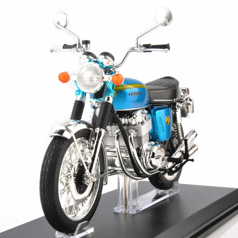 Diecast 1 12 Motorcycle Model CB750 FOUR Motorbike Collect Toy with base Gift