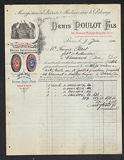 """PARIS (XI°) USINE D'OUTILLAGE pour POLISSAGE / MEULE """"Denis POULOT"""" en 1910"""