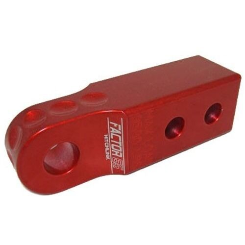 """Factor 55 Red HitchLink 2/"""" Hitch Receiver Shackle Bracket for Jeep SUV 00020"""