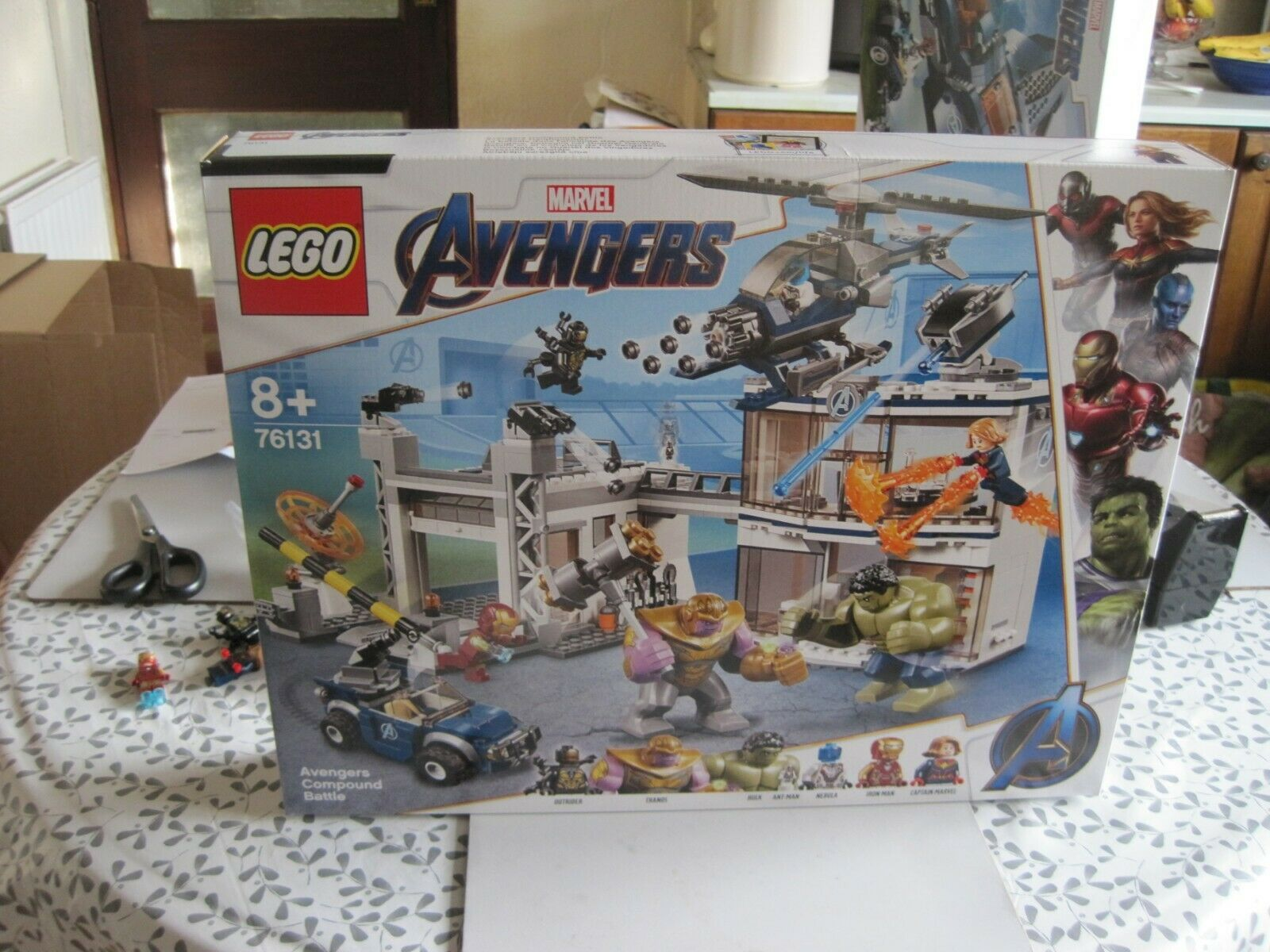 Brand new avengers compound battle, FIGURES HAVE BEEN REMOVED, lego 76131