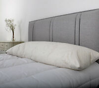 Duck Feather Bolster / Pregnancy Pillow with Pillowcase KING BED SIZE 5ft