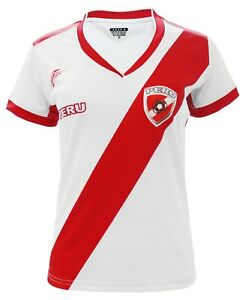 08900a7f1 Peru Women Soccer Jersey Arza Design Color White  Red 100% Polyester ...