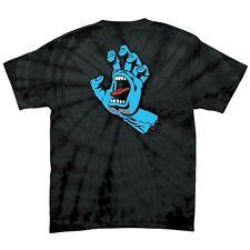 Santa Cruz SCREAMING HAND Skateboard T Shirt SPIDER BLACK XXL