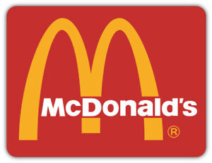 Mcdonald S Logo Sticker Car Bumper Decal 3 5 Or 6 Ebay