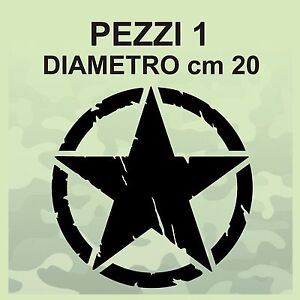 Adesivo-Stella-Militare-cm-20x20-US-ARMY-Jeep-renegade-Suzuki-fuoristrada-4X4
