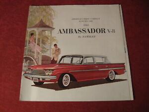 1961 Nash Rambler Ambassador sales Brochure booklet Catalog Book Old Original