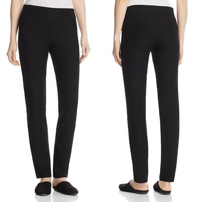 EILEEN FISHER Petite Black System Stretch Crepe Slim Ankle Pants Size PM