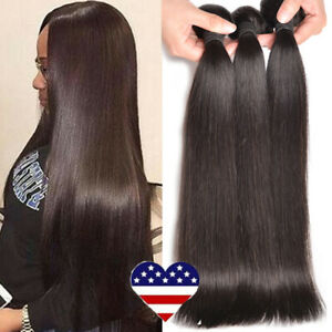 26-28-30-100G-Bundle-Brazilian-100-Soft-Remy-Human-Hair-Extension-Straight-Weft