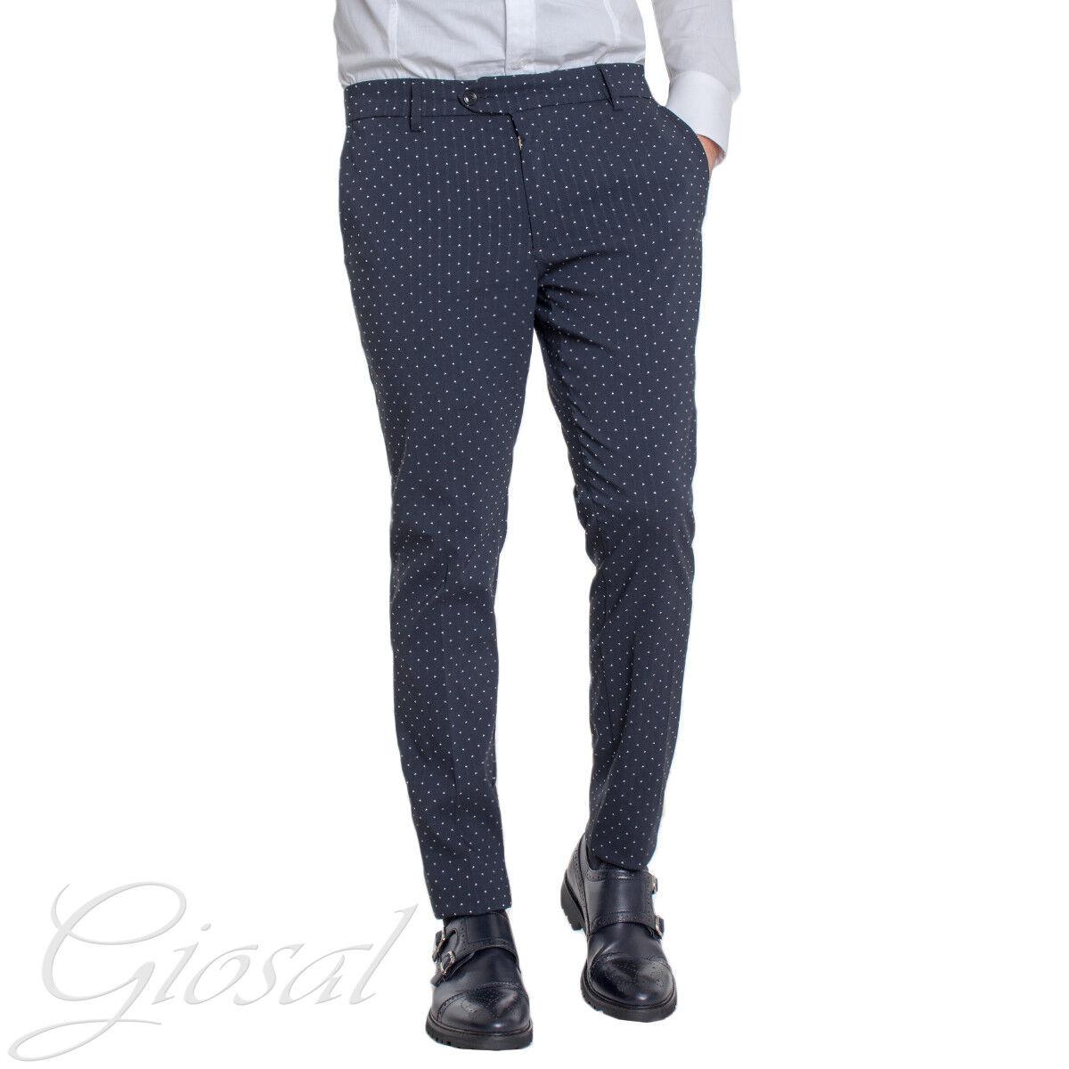 Pantalone men Classico Pois blue Tasca America Elegante GIOSAL