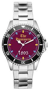 West-Ham-The-Hammers-Supporter-Geschenk-Fan-Artikel-Zubehor-Fanartikel-Uhr-6017