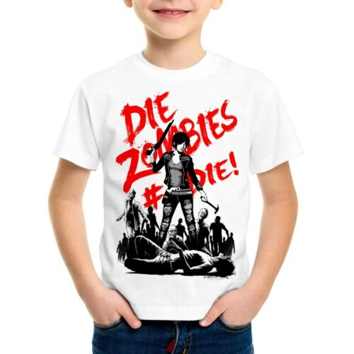 Zombie Bambini T-SHIRT THE WALKING horror Dead Daryl Dixon Halloween bretella ascia