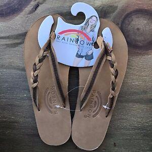 Image is loading Women-Rainbow-Sandals-Flirty-Braidy-Sierra-Brown-Expresso- 89541a5c4f45