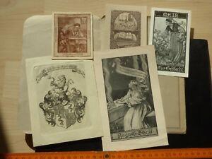 5 Exlibris, Pour 1916: Mina V. Gebhardt, Auguste Scheidt, De Meyenburg, Albert Ze-afficher Le Titre D'origine 1fhlujlr-07185204-766536867