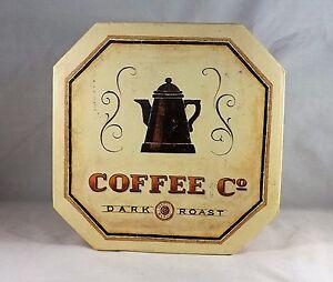 2004 Coffee Co. Dark Roast Keepsake Decorative Box