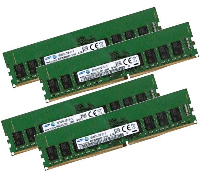 4x 16GB 64GB DDR4 ECC UDIMM RAM 2133 MHz PC4-2133P f DELL komp. SNP7XRW4C/16