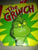 Grinch Who Stole Christmas Vinyl Tote Gift Bag Set Of Six