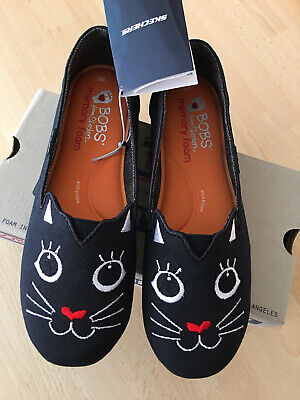Skechers Bobs Cattitude Shoes Kitty Cat