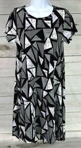 New LuLaRoe Women's Carly Dress Size XXS Black Gray White Unicorn NWOT A0908