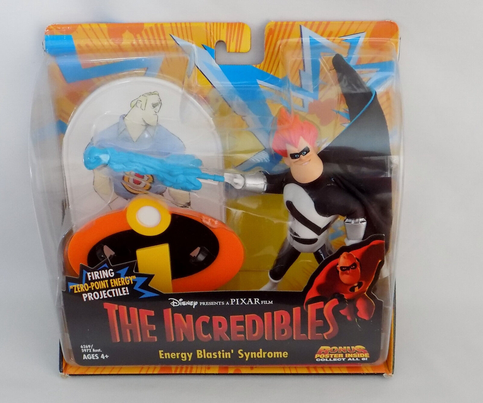 Disney The Incredibles Bad Guy Energy Blastin Syndrome Figure Toy New For Sale Online