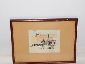 Aquarelle-Orientaliste-signee-1937