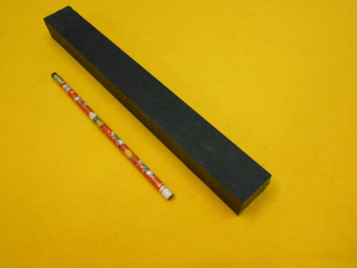 "BLACK UHMW BAR machinable plastic flat sheet stock 1/"" x 1 1//8/"" x 11 1//2/"" OAL"