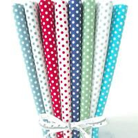8 X FQ BUNDLE - RICHMOND DOTS BRIGHTS - 100% COTTON FABRIC spots pink blue green