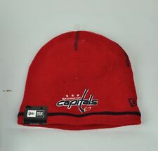 NHL New Era Washington Capitals Basic  Knit Beanie Red One Size Fits Most