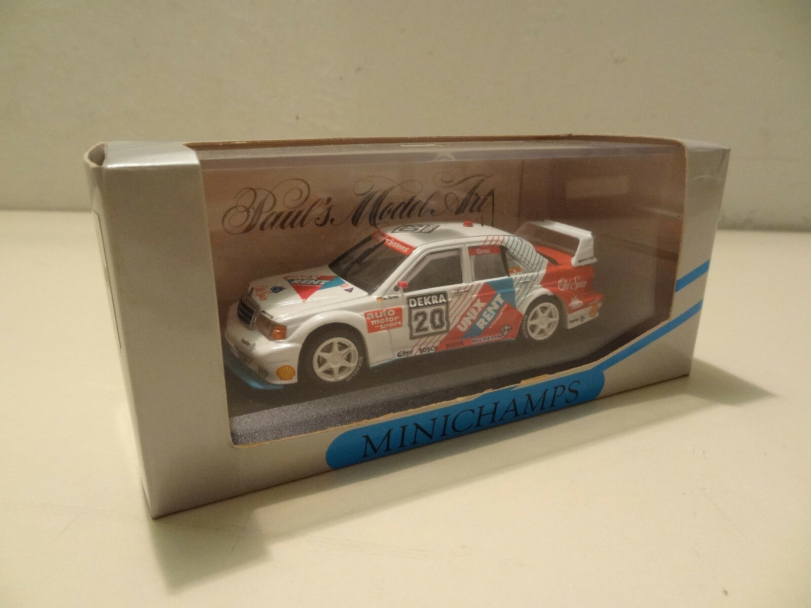 Mercedes 190 Evo 2 - S.grey - DTM 1993 - Minichamps 1 43