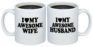 I Love My Awesome Wife Husband Valentines Gifts For Couples Coffee