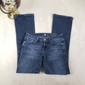 7-For-All-Mankind-Womens-26-Jeans-A-Pocket-Boot-Cut-Flare-Cotton-Stretch