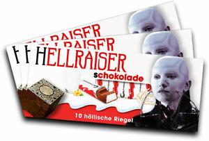 geschenk, Gadget Schlussverkauf 3x Aufkleber Hellraiser motiv 3 Für Kinderschokolade