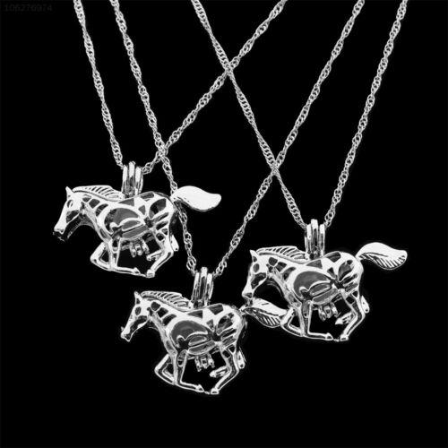 4263 Pullover Kette Anhänger Halskette Leuchtendes Pferd Schmuck Halskette Für
