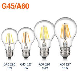 E27-E26-Dimmbare-LED-Filament-Lampen-Leuchtmittel-Gluehbirne-COB-Licht-8-16W-220V