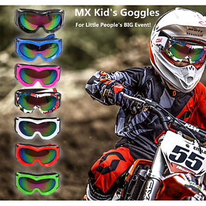 Motocross Kid's Racing Goggles Tinted Dirt Bike ATV Quad PW50 Riding Boy Girl